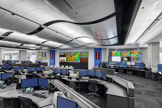 United Airlines Network Operations Center Customized