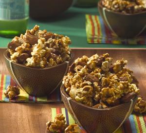 Caramel Almond Popcorn Clusters