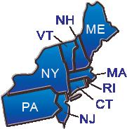 Northwestern region states map