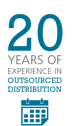 Nearly 20 years of experience in outsourced distribution