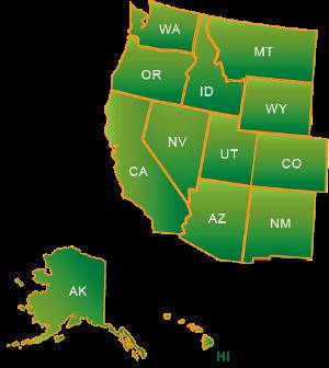 Western region states map