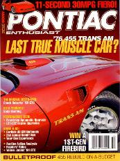 Poniac Enthusiasts Magazine Bandit Run 2008 Muscle Car