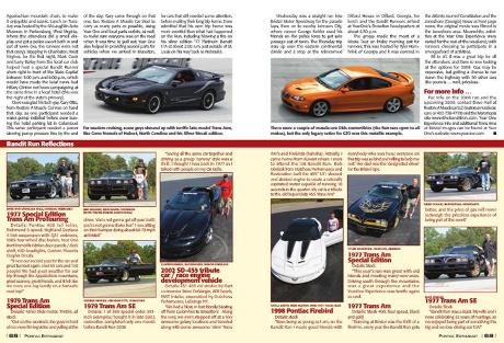 Poniac Magazine Bandit Run 2008 Smokey and the Bandit Muscle Cars
