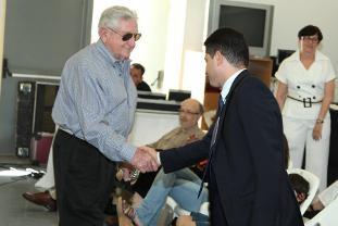 Mr. Goodman and Be'er Sheva Mayor Ruvik Danilovitch