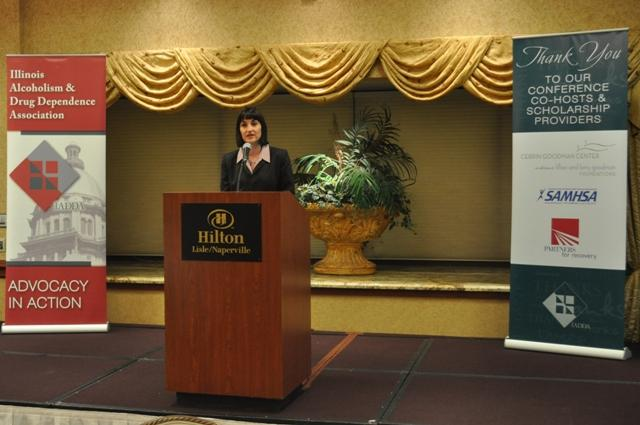 Sara Howe, IADDA CEO welcomes conference attendees.