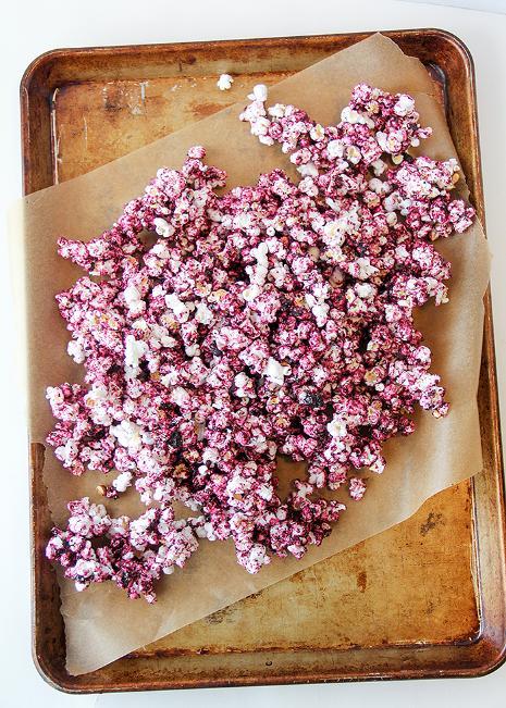 Dye-Free Fruity Popcorn