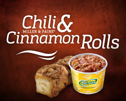Homemade Chili & Cinnamon Rolls