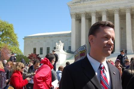 AG Bruning outside of U.S. Supreme Court