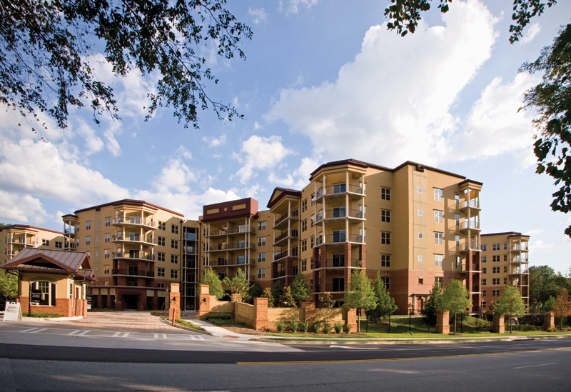 Sunny, spacious balconies and high rise views of all of Sandy Springs, GA.